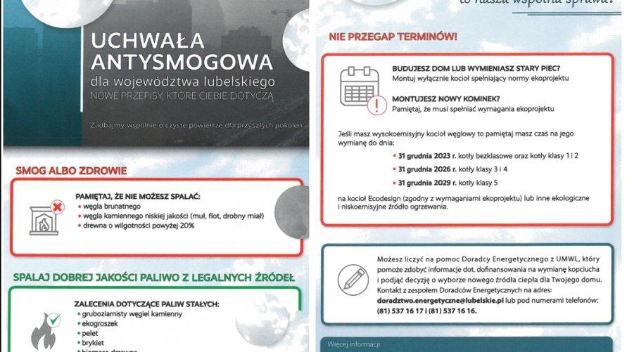 Uchwała Antysmogowa dla województwa lubelskiego